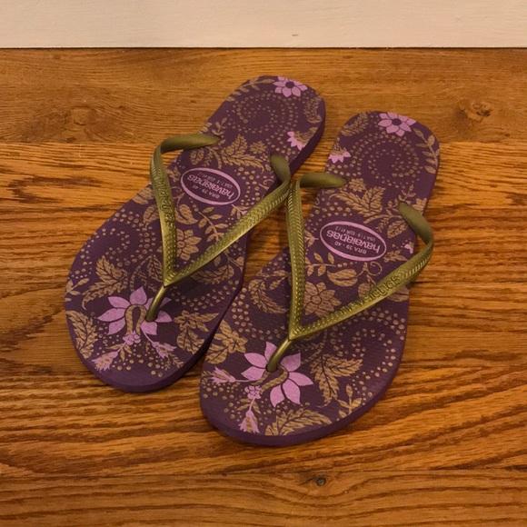 7cccee6f2 Havaianas Shoes - Havaianas Slim Flip Flops Sandals Gold Bronze 7 8
